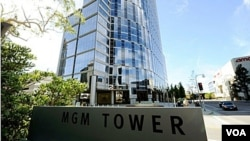 Menara MGM di kawasan Century City, Los Angeles, California.