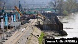 """Gradilištu budućeg """"Beograda na vodi"""" preti poplava"""