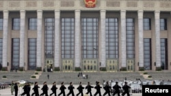 举行中国两会的北京人大会堂 (2019年3月2日)