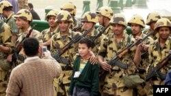 Quân đội Ai Cập ở Quảng trường chính (ảnh tư liệu)