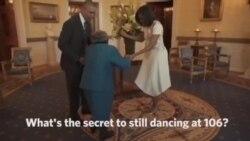 美国万花筒:106岁人瑞和奥巴马夫妇共舞