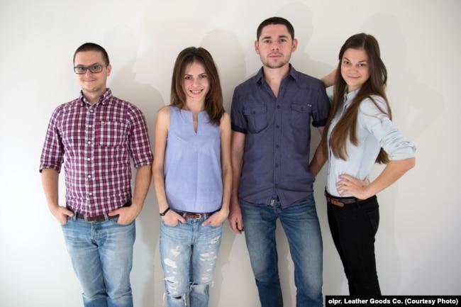 Команда засновників (зліва направо): Павло Пранник, Юлія Пранник, Віктор Олексин, Тетяна Рідош