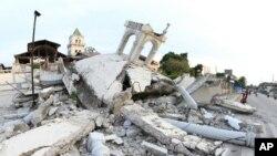 지난 2013년 필리핀 중부에서 발생한 규모 7.2의 강진으로 무너진 건물 모습(자료사진)