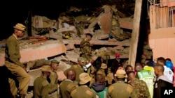 Le 29 avril, les intempéries avaient provoqué l'effondrement d'un bâtiment à Nairobi, Kenya.