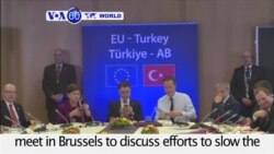 VOA60 World - EU and Turkey discuss migrant flow