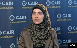 Amineh Safi, the government affairs coordinator for CAIR. (VOA photo).