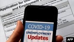 Pandemi Covid-19 memicu pengangguran besar-besaran di AS (foto: ilustrasi). Bank Dunia memperkirakan ekonomi global menyusut sampai 5,2 persen tahun ini.