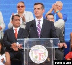 اریک گارستی شهردار لس آنجلس