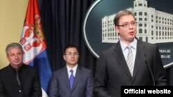 Premijer Srbije Aleksandar Vučić na konferenciji za novinare (srbija.gov.rs)