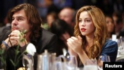 Antonio De La Rúa, fue novio de Shakira durante 11 años. En esta foto, participaban de un almuerzo de la Iniciativa Global Clinton, en 2007.