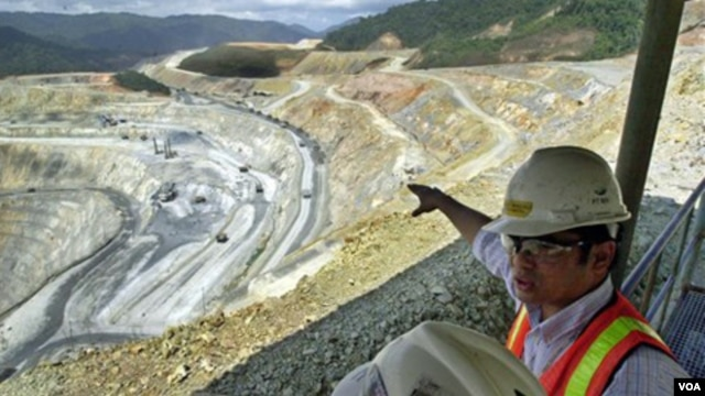 Salah satu lokasi pertambangan di Batu Hijau, Sumbawa, NTB. (Foto: Dok)