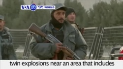 VOA60 World- At least 50 dead from explosions in Kabul