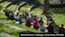 Committee on Diversity and Inclusion meeting in the Scott Amphitheater at Swarthmore College on Friday, April 15, 2016, in Swarthmore, Pa. (Laurence Kesterson/Swarthmore College)