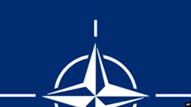 Logo of the North-Atlantic Treaty Organization, or NATO.