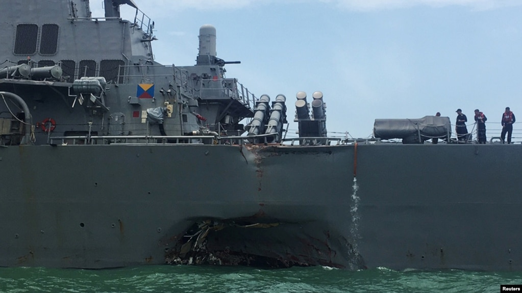 Image result for US Navy orders operational pause, review after collision