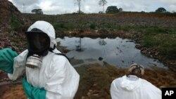 یکی از محلات آلودۀ محیط زیست در ساحل عاج