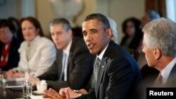 Tổng thống Obama họp tại Tòa Bạch Ốc, 4/3/2013.