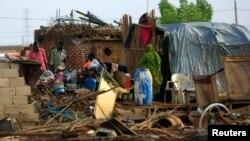 Wasu da ambaliyar ruwa ta rutsa da su a Sudan