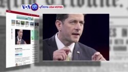 VOA60 Elections - Politico: House Speaker Paul Ryan voted for Donald Trump during early voting in Wisconsin