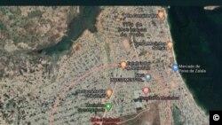 Localização geográfica de Mocímboa da Praia, Moçambique