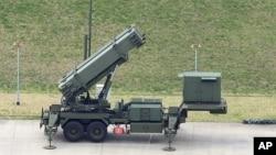 일본 자위대가 운용하는 미국산 PAC-3 요격 미사일.