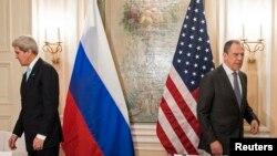 ABD Dışişleri Bakanı John Kerry ve Rusya Dışişleri Bakanı Sergei Lavrov, Münih konferansında yerlerini almaya hazırlanırken