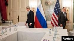Госсекретарь США Джон Керри и министр иностранных дел РФ Сергей Лавров (архивное фото)