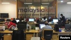 马来西亚吉隆坡的《当今大马》的媒体编辑室(2018年5月24日)