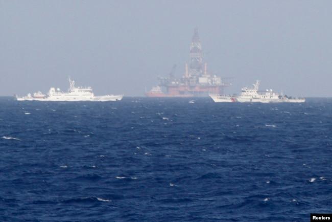 Dàn khoan 981 của Trung Quốc khi hoạt động gần bờ biển Việt Nam hè 2014 đã gây phẫn nộ
