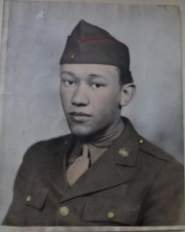Waverly Woodson's first Army portrait. (Courtesy of Joann Woodson)