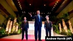 Президент Дональд Трамп, радник з національної безпеки Макмастер, держсекретар Тіллерсон