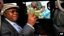 Etienne Tshisekedi, leader l'Union pour la démocratie et le progrès social (Udps) et du Rassemblement, 28 novembre 2014.