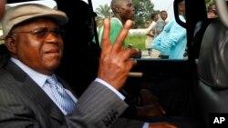 Etienne Tshisekedi lors de son retour à Kinshasa, 28 novembre 2014