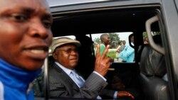 Le général Kanyama au micro de Top Congo FM
