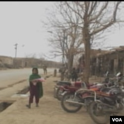 Ulica u Baraki Baraku, centru pokarjine Logar u Afganistanu