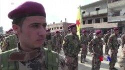 Xwepêşandaneka Kurdên Sûriyê ji bo Efrînê