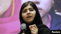 Pelajar putri Pakistan Malala Yousafzai, yang selamat setelah kepalanya ditembak oleh Taliban pada 2012. (Foto: Dok)