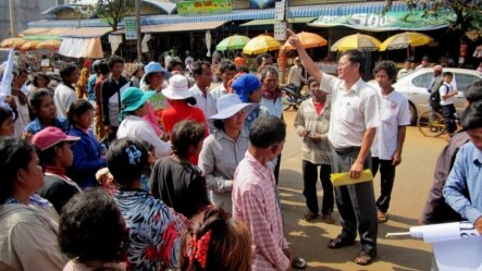 Ny Chakrya, head of legal assistance for the rights group Adhoc, is facing a suit filed by two court officials in Siem Reap province last month, after he spoke to local media about a land dispute there. (Courtesy of Ny Chakrya)