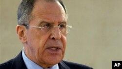 ႐ုရွားႏိုင္ငံျခားေရးဝန္ႀကီး Sergey Lavrov ကုလလူ႔အခြင့္အေရးေကာင္စီမွာ စကားေျပာစဥ္။ (မတ္လ ၃၊ ၂၀၁၄)