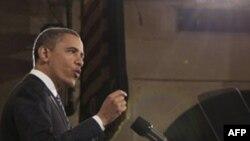Барак Обама выступает в Торговой палате США 7 февраля 2011г.