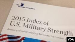 传统基金会发表首份美军实力年度报告(美国之音黎堡拍摄)