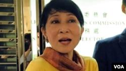 公民黨立法會議員毛孟靜(VOA 湯惠芸攝)