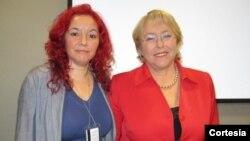La directora del organismo, Michelle Bachelet, incluyó a la activista por los rerechos de personas con VIH/Sida Patricia Pérez. [Foto: ICW Global]