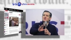VOA60 Elections - Texas Senator Ted Cruz is pushing toward a victory in New Hampshire