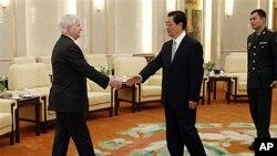 美國國防部長蓋茨會晤中國國家主席胡錦濤