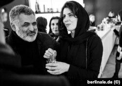 لیلا حاتمی و مانی حقیقی در حاشیه جشنواره فیلم برلین- سال ۲۰۱۸