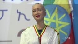 AI Robot Sophia Wows at Ethiopia ICT Expo