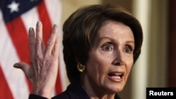 House Minority Leader Nancy Pelosi (D-CA) on Capitol Hill, Dec. 7, 2012