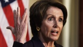 U.S. House Minority Leader Nancy Pelosi speaks to the media on Capitol Hill, December 7, 2012.