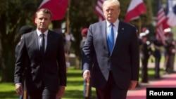 Tổng thống Pháp Macron và ông Trump hôm